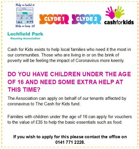 Cash For Kids - Coronavirus