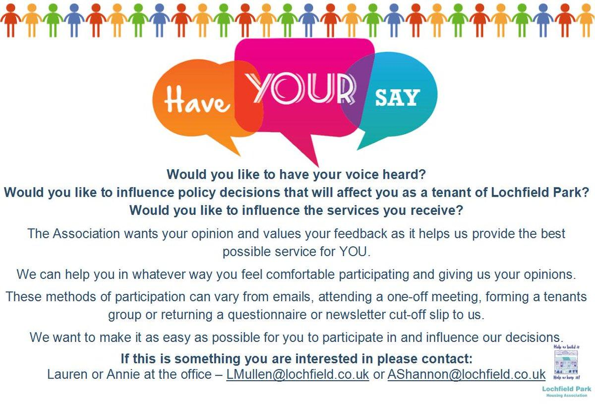 Have Your Say - Tenant Participation