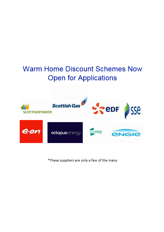Warm Homes Discount - Noticeboard