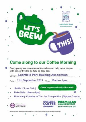 MacMillan Cancer Trust Coffee Morning